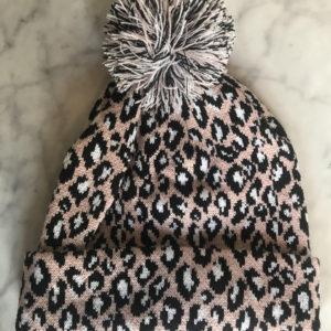 0f79ca17 Blush, black and white leopard print hat